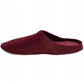 Kapcie Crocs Classic Slipper 203600-60U czerwone 1