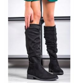 Sweet Shoes Zamszowe Kozaki czarne 2