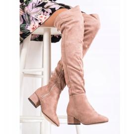 Fashion Pudrowe Muszkieterki różowe 2