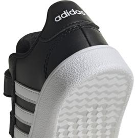 Buty dla dzieci adidas Grand Court I czarno białe EF0117 czarne 4