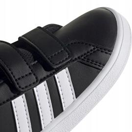 Buty dla dzieci adidas Grand Court I czarno białe EF0117 czarne 3