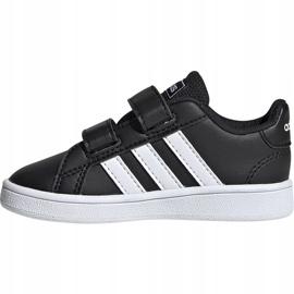 Buty dla dzieci adidas Grand Court I czarno białe EF0117 czarne 2