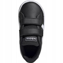 Buty dla dzieci adidas Grand Court I czarno białe EF0117 czarne 1