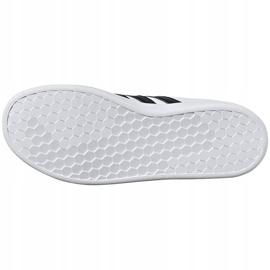 Buty dla dzieci adidas Grand Court K biało-czarne EF0103 białe 5