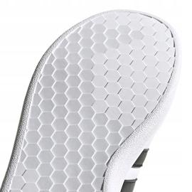 Buty dla dzieci adidas Grand Court K biało-czarne EF0103 białe 4