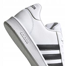 Buty dla dzieci adidas Grand Court K biało-czarne EF0103 białe 3