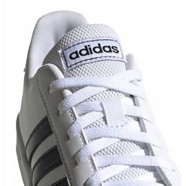 Buty dla dzieci adidas Grand Court K biało-czarne EF0103 białe 2