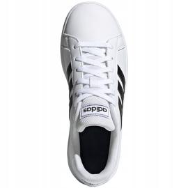Buty dla dzieci adidas Grand Court K biało-czarne EF0103 białe 1