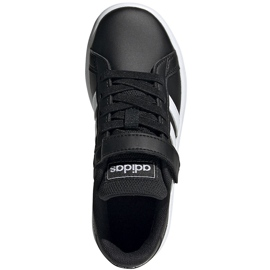 Buty dla dzieci adidas Grand Court C czarno-białe EF0108 czarne 1