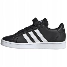 Buty dla dzieci adidas Grand Court C czarno-białe EF0108 czarne 2