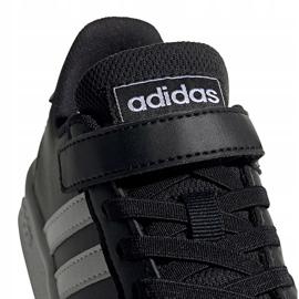 Buty dla dzieci adidas Grand Court C czarno-białe EF0108 czarne 3