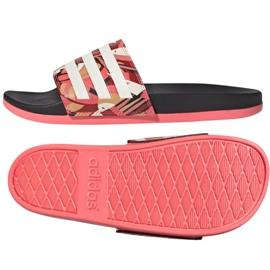 Klapki adidas Adilette Comfort W FW7256 różowe wielokolorowe 3