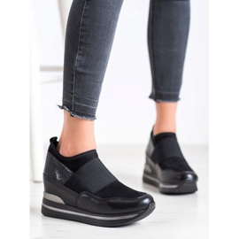 Gogo Wsuwane Sneakersy czarne 1