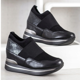 Gogo Wsuwane Sneakersy czarne 3