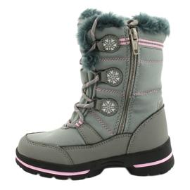 American Club American softhell buty nieprzemakalne SN13/20 grey różowe szare 1