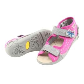 Befado żółte obuwie dziecięce 342P016 różowe srebrny szare 3