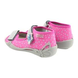 Befado żółte obuwie dziecięce 342P016 różowe srebrny szare 7