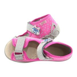 Befado żółte obuwie dziecięce 342P016 różowe srebrny szare 5