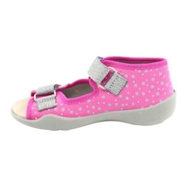 Befado żółte obuwie dziecięce 342P016 różowe srebrny szare 2