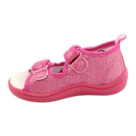 American Club Kapcie sandałki American TEN38/20 wkładka skórzana fuksja różowe 1