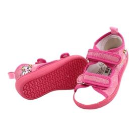American Club Kapcie sandałki American TEN38/20 wkładka skórzana fuksja różowe 3