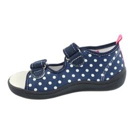 American Club Kapcie sandałki buty dziecięce American wkładka skórzana granatowe różowe 1