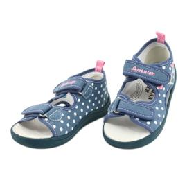 American Club Kapcie sandałki buty dziecięce American wkładka skórzana białe niebieskie różowe 2