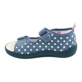 American Club Kapcie sandałki buty dziecięce American wkładka skórzana białe niebieskie różowe 1