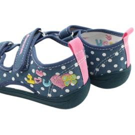 American Club Kapcie sandałki buty dziecięce American wkładka skórzana białe niebieskie różowe 5