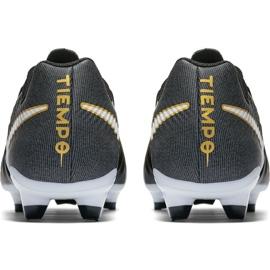 Buty piłkarskie Nike Tiempo Ligera Iv Fg 897744 002 czarne czarne 4