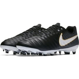 Buty piłkarskie Nike Tiempo Ligera Iv Fg 897744 002 czarne czarne 3