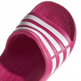 Klapki adidas Duramo Slide K różowe G06797 2