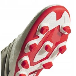Buty piłkarskie adidas Nemeziz 18.4 FxG D97992 białe wielokolorowe 5