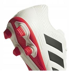 Buty piłkarskie adidas Nemeziz 18.4 FxG D97992 białe wielokolorowe 4