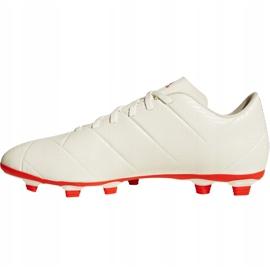 Buty piłkarskie adidas Nemeziz 18.4 FxG D97992 białe wielokolorowe 2