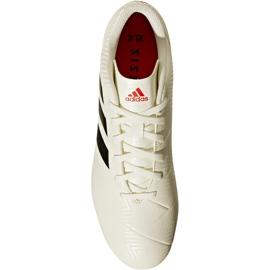 Buty piłkarskie adidas Nemeziz 18.4 FxG D97992 białe wielokolorowe 1