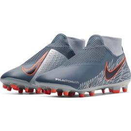 Buty piłkarskie Nike Phantom Vsn Academy Df FG/MG AO3258 408 szare wielokolorowe 3