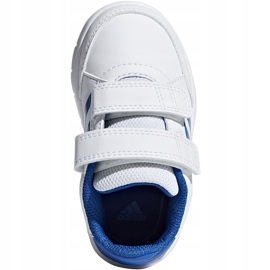 Buty dla dzieci adidas AltaSport Cf I biało-niebieskie D96844 białe 1