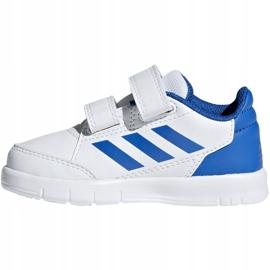 Buty dla dzieci adidas AltaSport Cf I biało-niebieskie D96844 białe 2