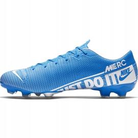 Buty piłkarskie Nike Mercurial Vapor 13 Academy FG/MG AT5269 414 niebieskie niebieskie 2
