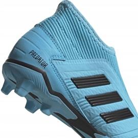 Buty piłkarskie adidas Predator 19.3 Ll Fg Junior niebieskie EF9039 4