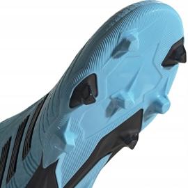 Buty piłkarskie adidas Predator 19.3 Ll Fg Junior niebieskie EF9039 5