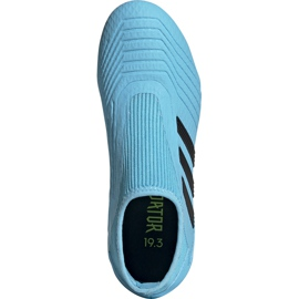 Buty piłkarskie adidas Predator 19.3 Ll Fg Junior niebieskie EF9039 1