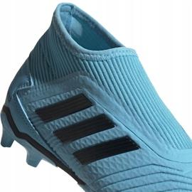 Buty piłkarskie adidas Predator 19.3 Ll Fg Junior niebieskie EF9039 3
