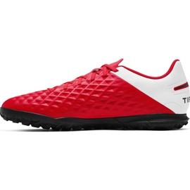 Buty piłkarskie Nike Tiempo Legend 8 Club Tf AT6109 606 czerwone czerwone 1
