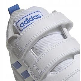 Buty dla dzieci adidas Tensaur C biało-niebieskie EF1096 4
