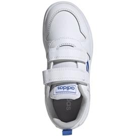 Buty dla dzieci adidas Tensaur C biało-niebieskie EF1096 1