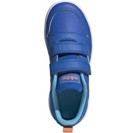 Buty dla dzieci adidas Tensaur C niebieskie EG4090 1