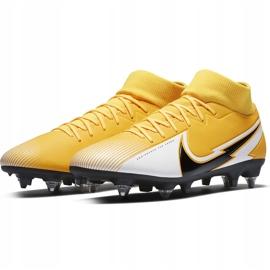 Buty piłkarskie Nike Mercurial Superfly 7 Academy Sg Pro Ac BQ9141 801 żółte pomarańczowe 3