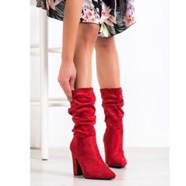 Sweet Shoes Krótkie Czerwone Kozaczki 1